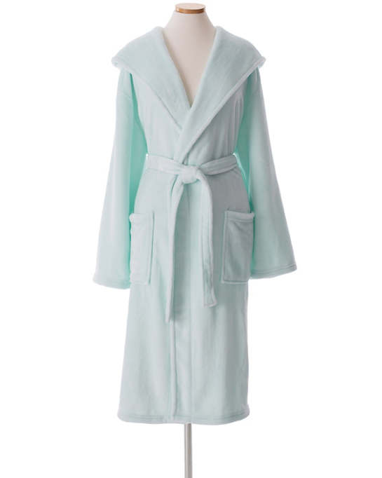 Selke Fleece Sky Hooded Robe