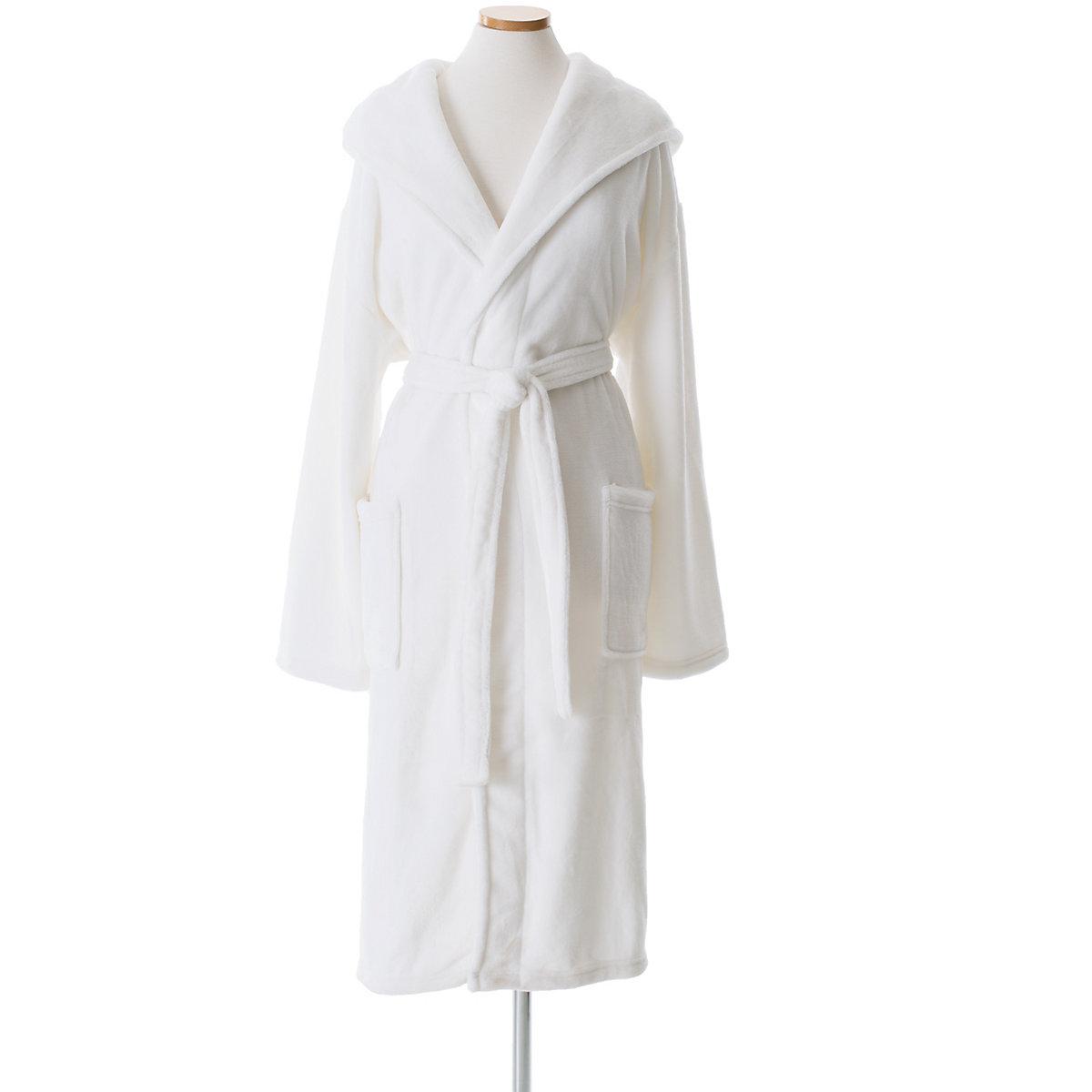 674617b130 Selke Fleece White Hooded Robe