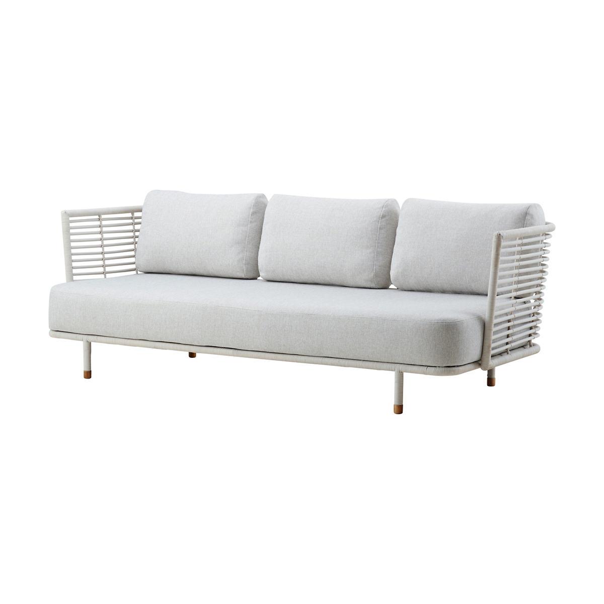 White/Grey Sense 3 Seater Sofa