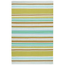 Serape Green Woven Cotton Rug