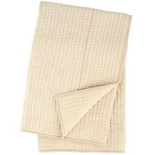 Seta Semolina Quilted Throw