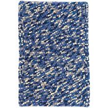 Seurat Blue Wool Woven Rug