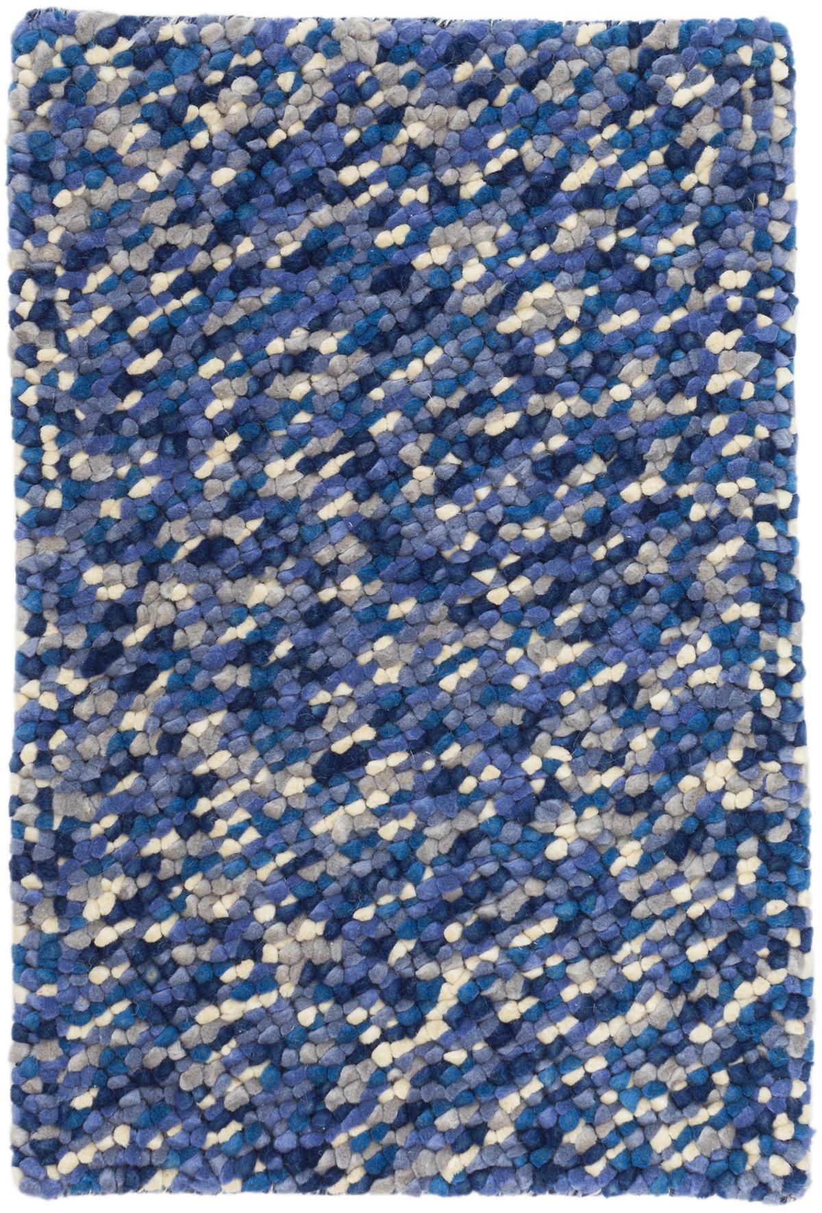 Seurat Blue Woven Wool Rug