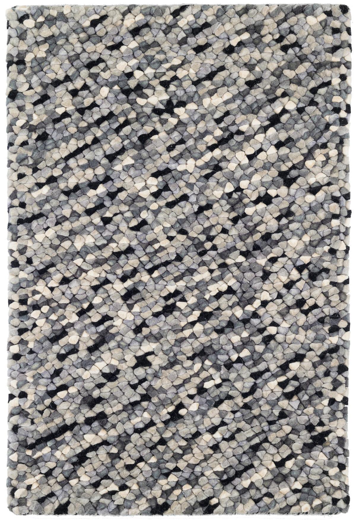 Seurat Grey Woven Wool Rug