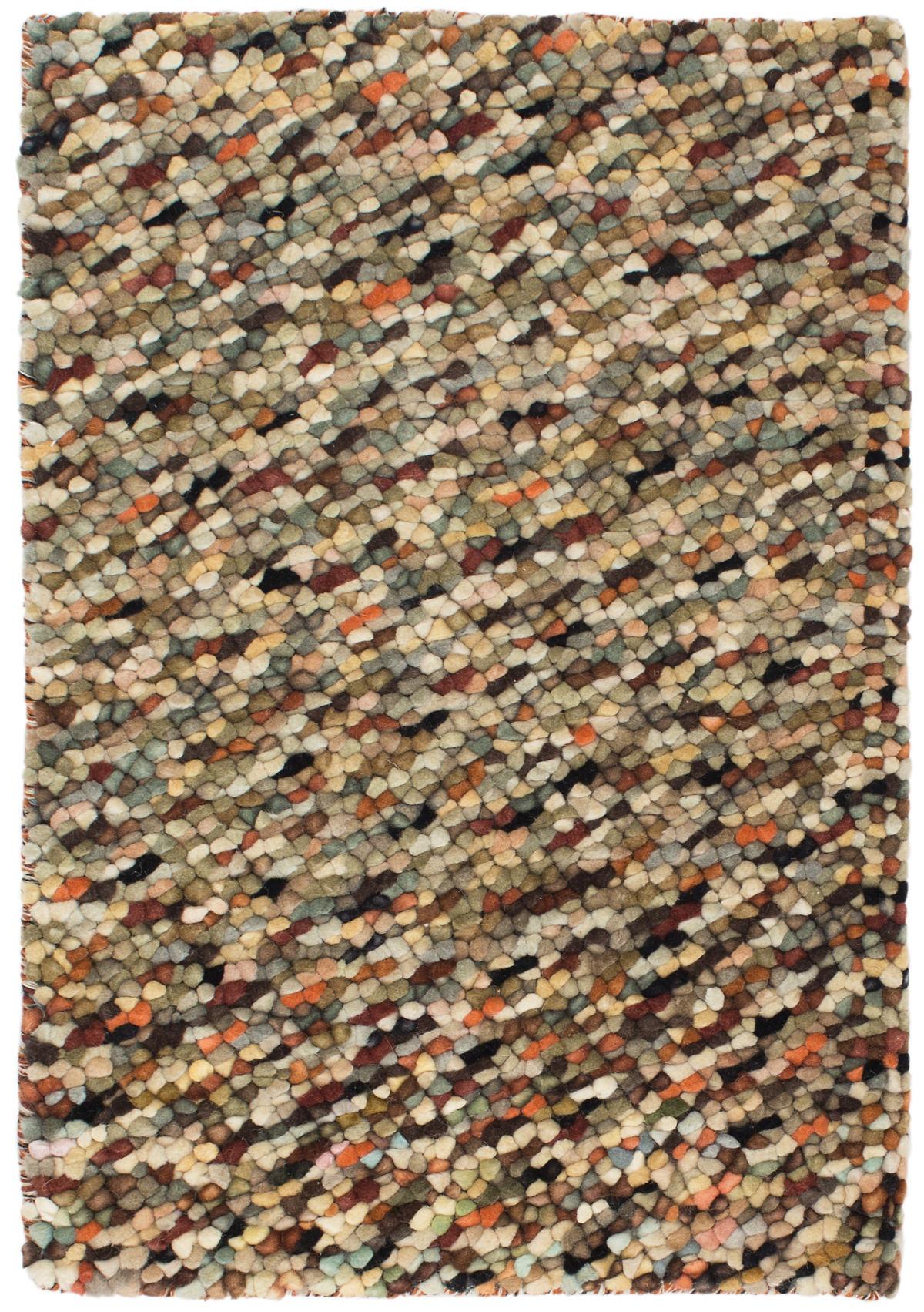 Seurat Neutral Wool Woven Rug