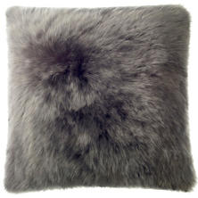 Shale Longwool Combed Sheepskin Decorative Pillow
