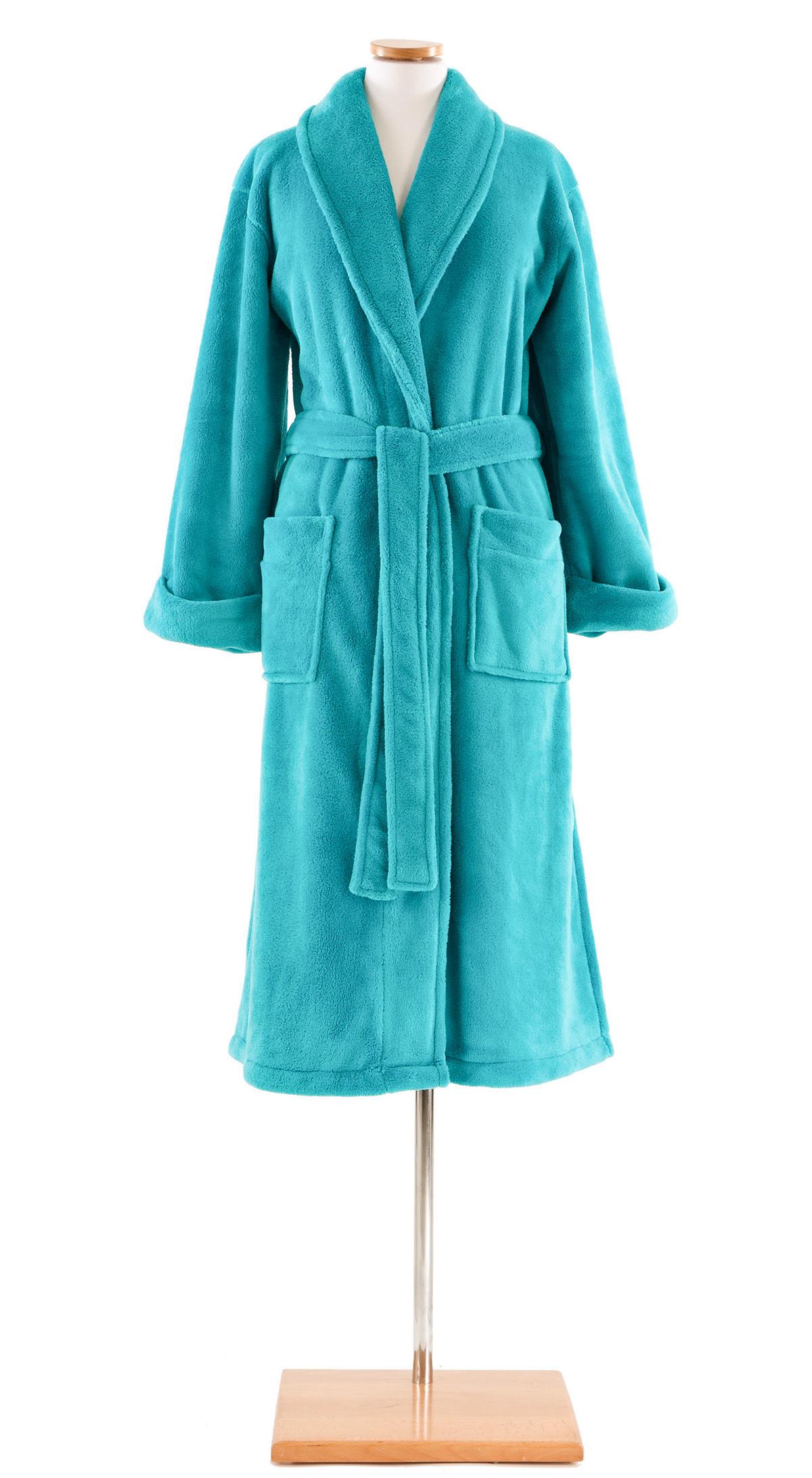 Sheepy Fleece Aqua Robe