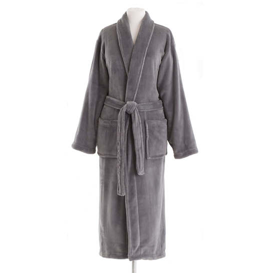 Sheepy Fleece Charcoal Robe