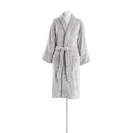 Sheepy Fleece Dove Grey Shortie Robe