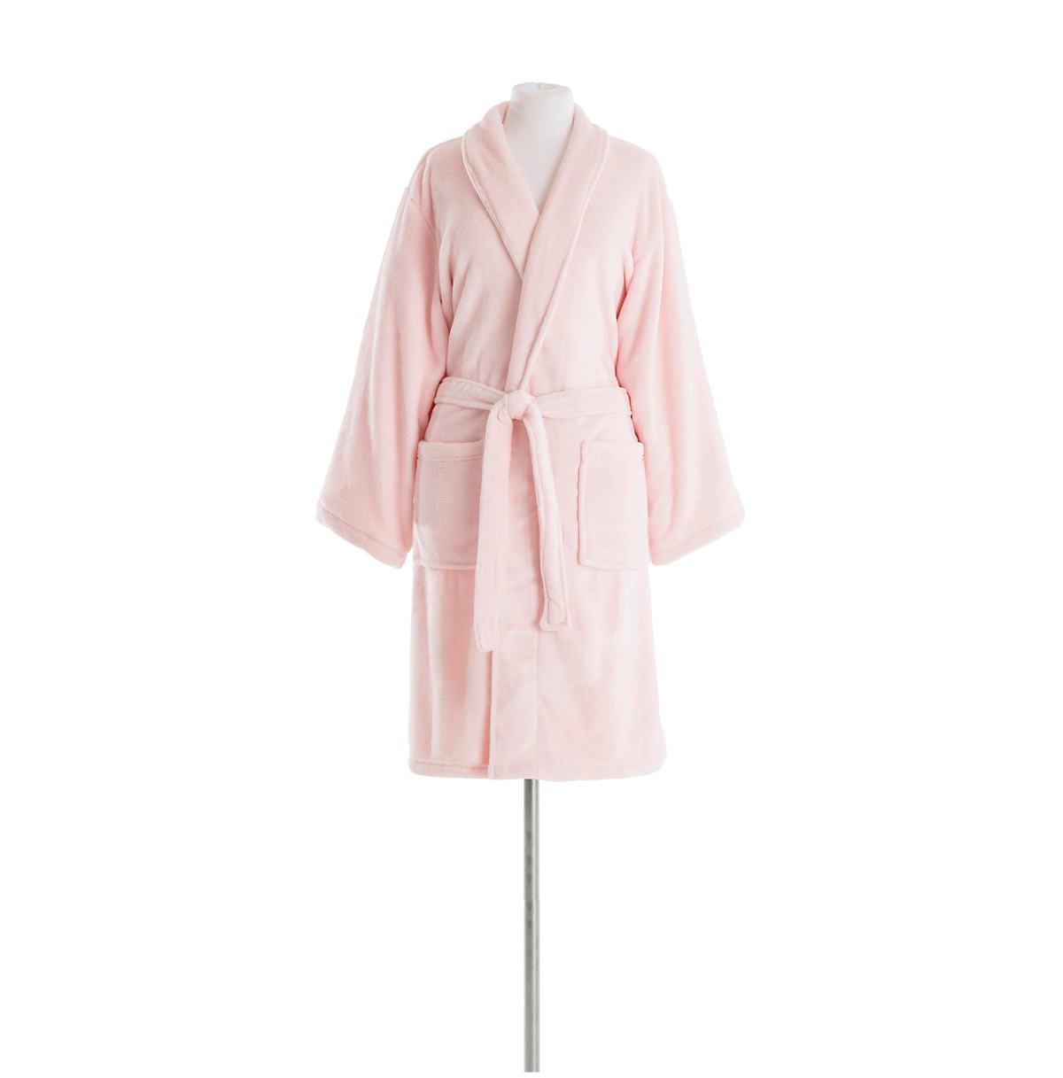 Sheepy Fleece Pale Rose Shortie Robe