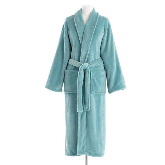 Sheepy Fleece Teal Robe