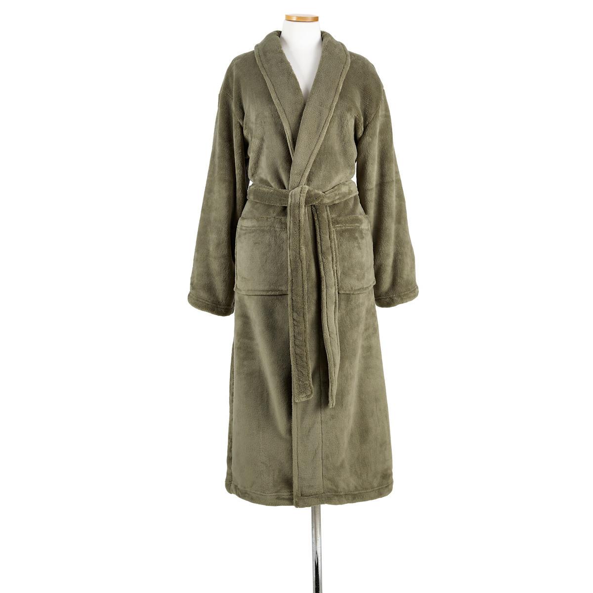 Sheepy Fleece Vetiver Robe