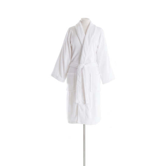 Sheepy Fleece White Shortie Robe