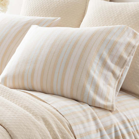 Shelburne Stripe Flannel Pillowcases