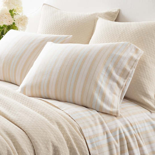 Shelburne Stripe Flannel Sheet Set