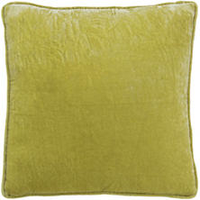 Citrus Shimmer Velvet Decorative Pillow