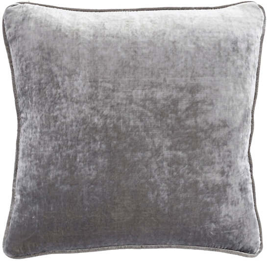 Graphite Shimmer Velvet Decorative Pillow