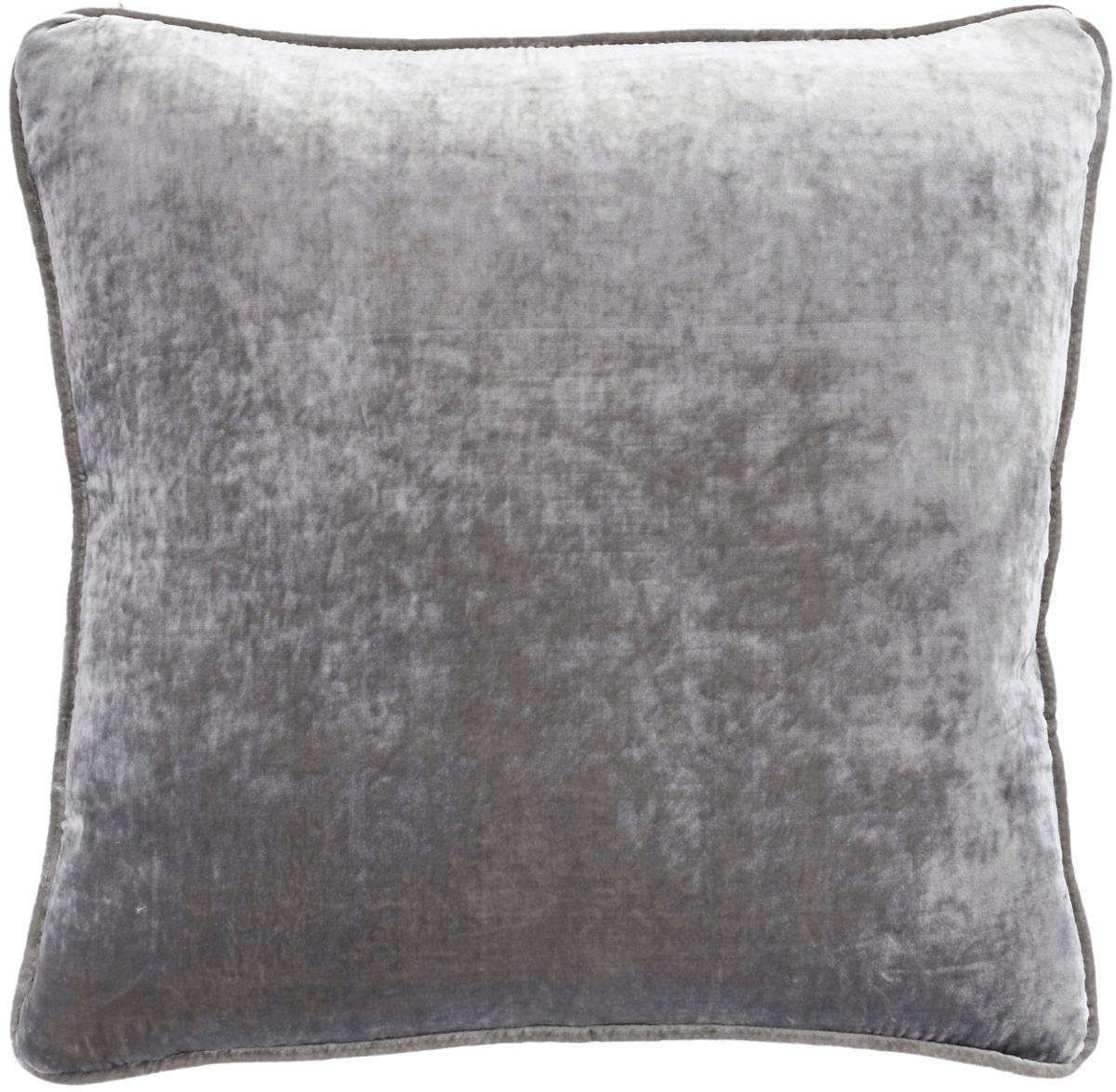 Graphite Shimmer Velvet Decorative Pillow