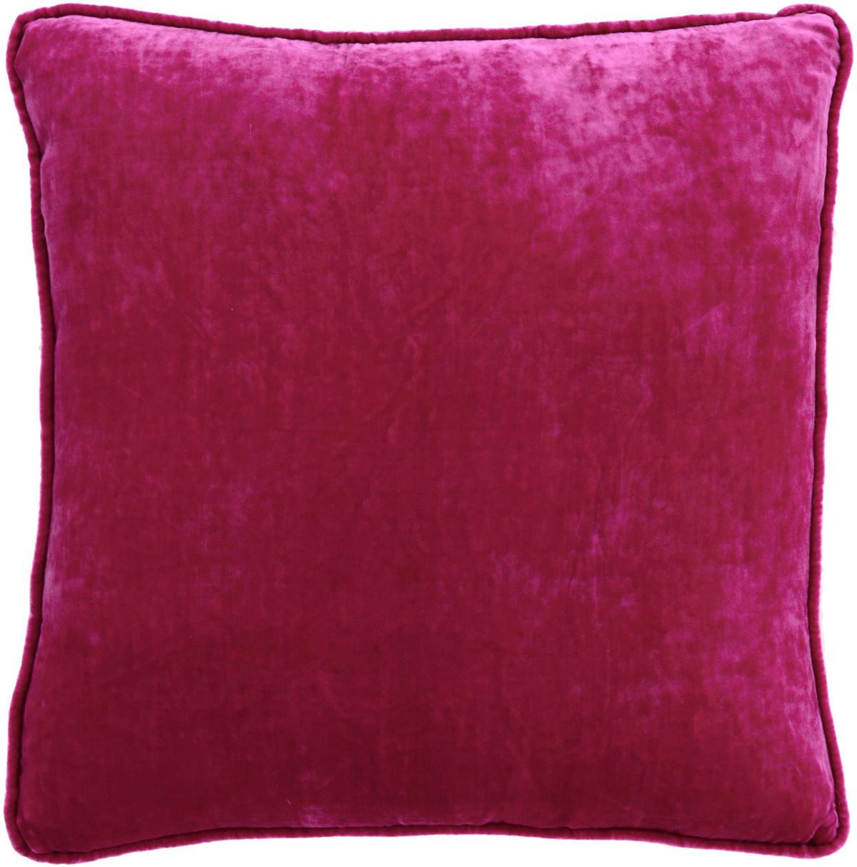 Magenta Shimmer Velvet Decorative Pillow