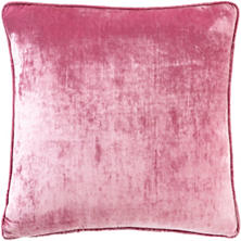 Rose Shimmer Velvet Decorative Pillow