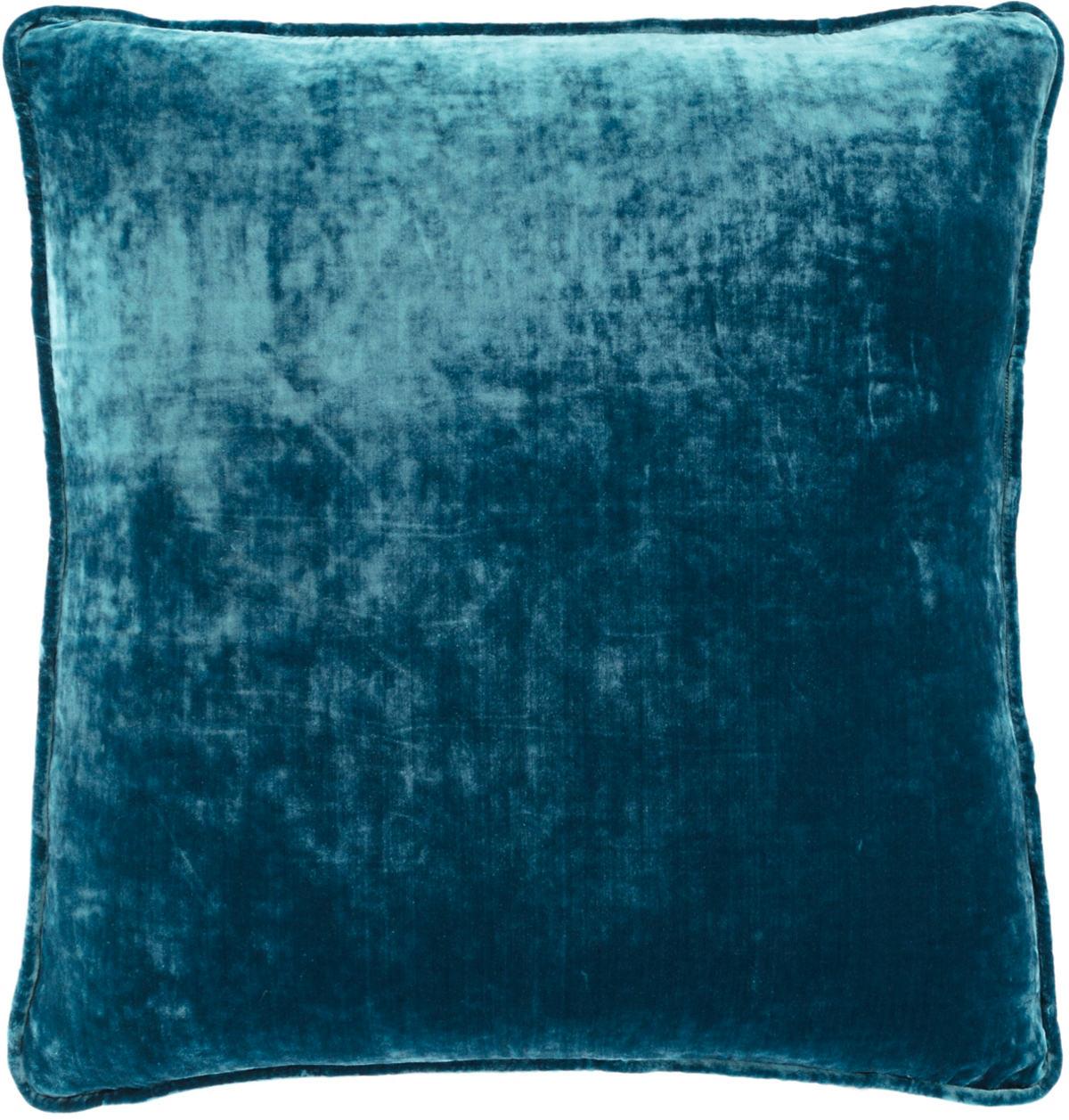 Teal Shimmer Velvet Decorative Pillow