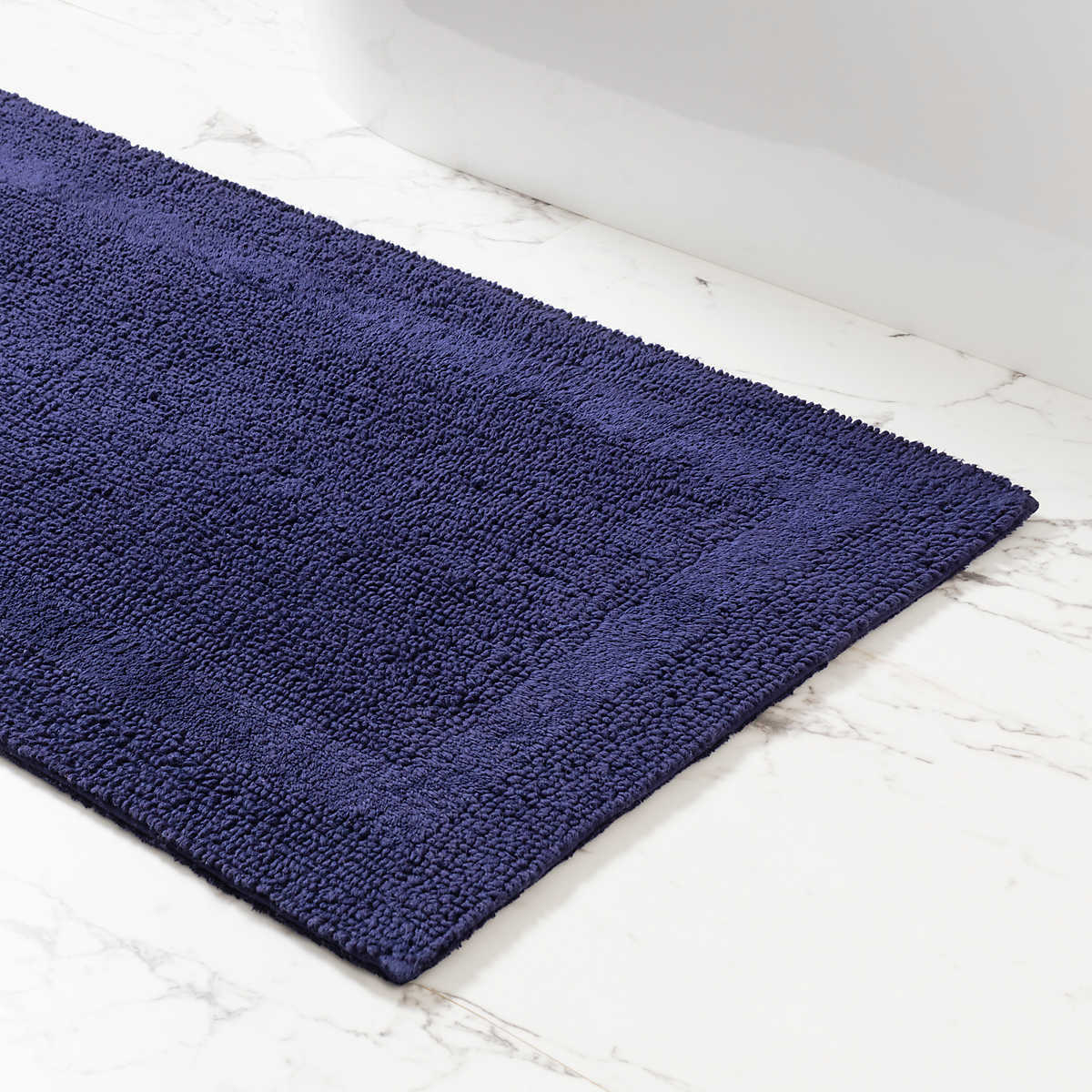 signature indigo bath rug | pine cone hill Bathroom Rugs