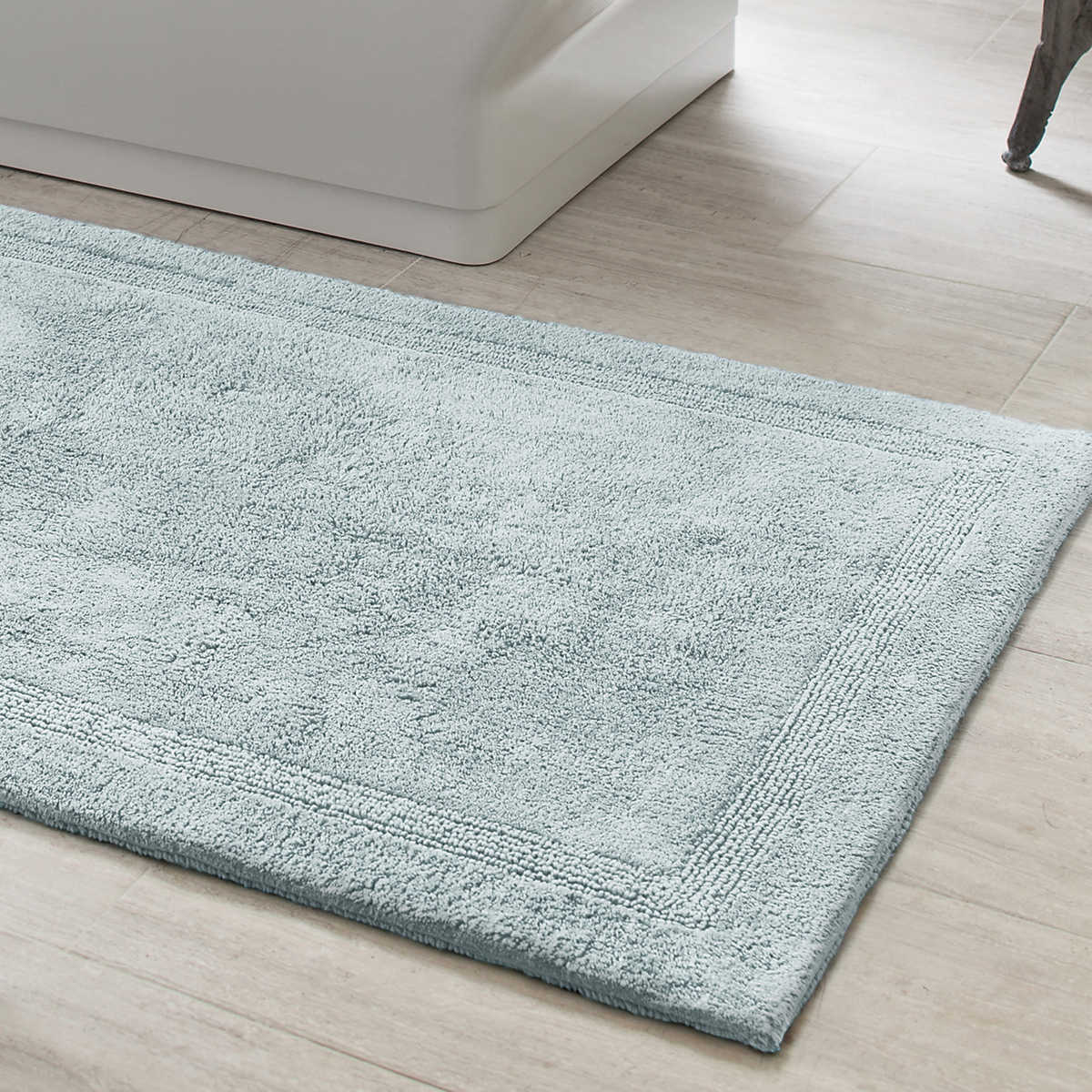 Signature Robin S Egg Blue Bath Rug Pine Cone Hill