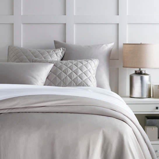 Silken Solid Grey Duvet Cover