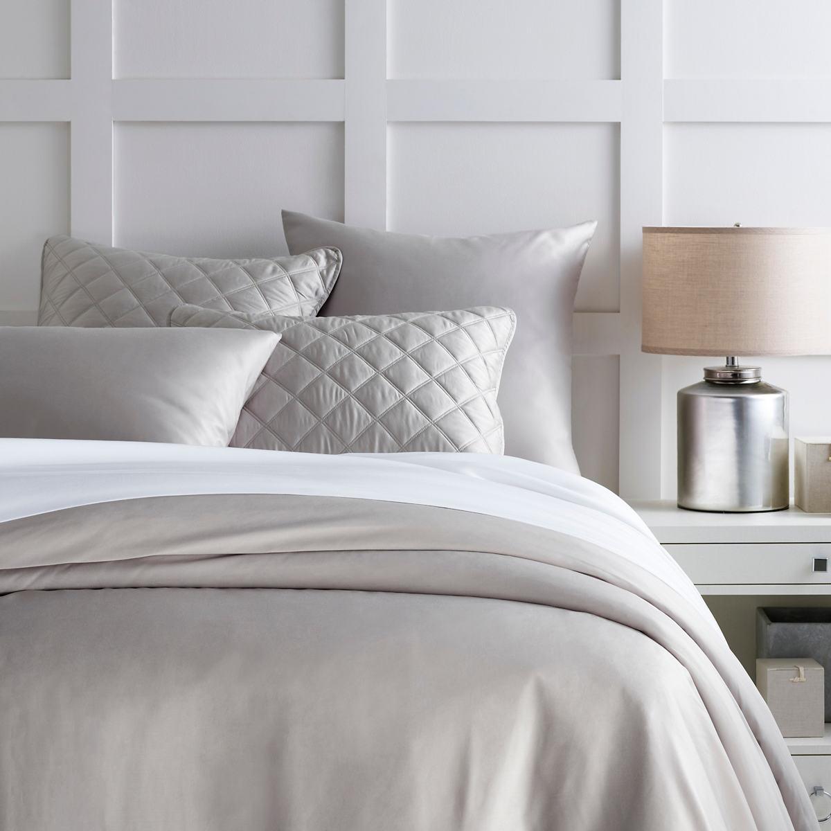 Silken Solid Grey Duvet Cover