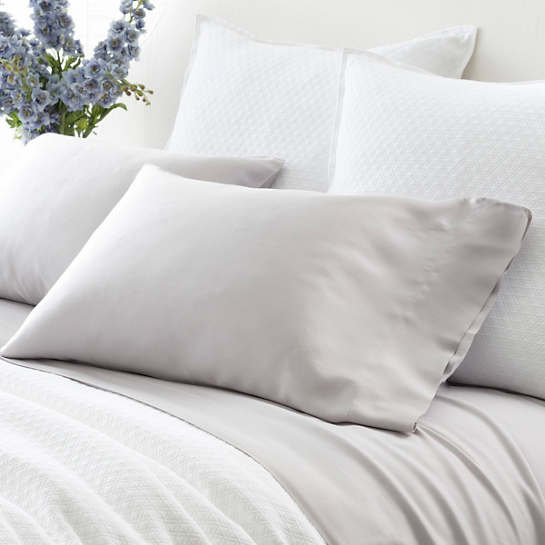 Silken Solid Grey Pillowcases