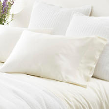 Silken Solid Ivory Pillowcases (Pair)