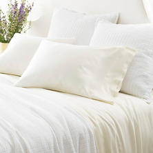 Silken Solid Ivory Sheet Set