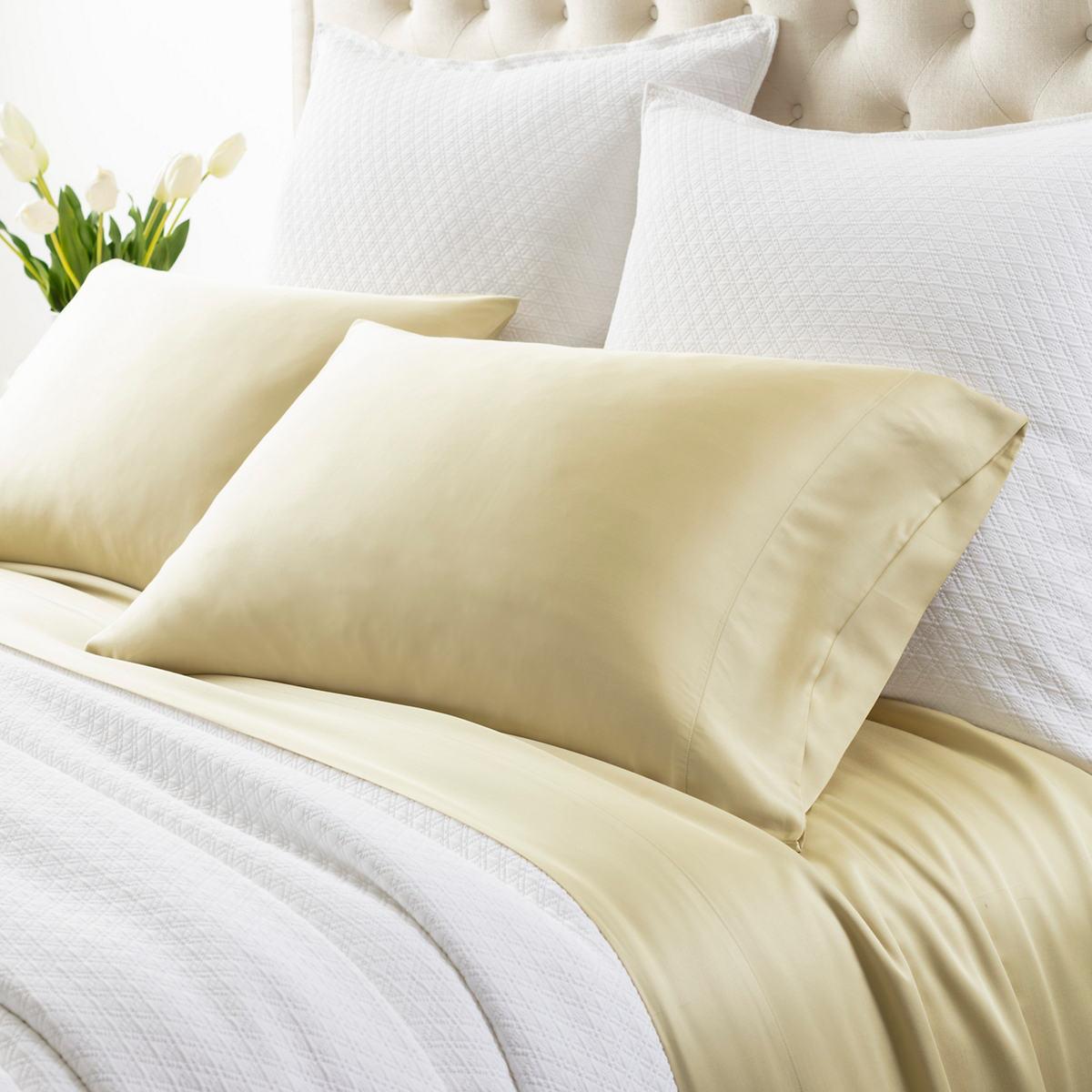 Silken Solid Lemongrass Pillowcases