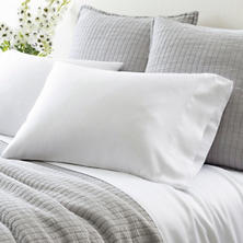 Silken Solid White Pillowcases (Pair)
