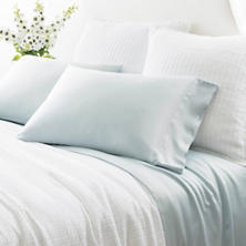 Silken Solid Robin's Egg Blue Pillowcases (Pair)