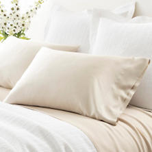Silken Solid Sand Pillowcases (Pair)