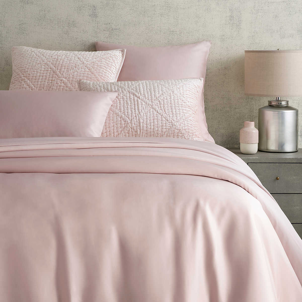 Silken Solid Slipper Pink Duvet Cover Pine Cone Hill