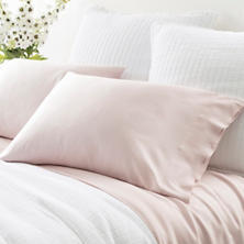 Silken Solid Slipper Pink Pillowcases (Pair)