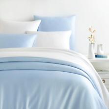 Silken Solid Soft Blue Duvet Cover