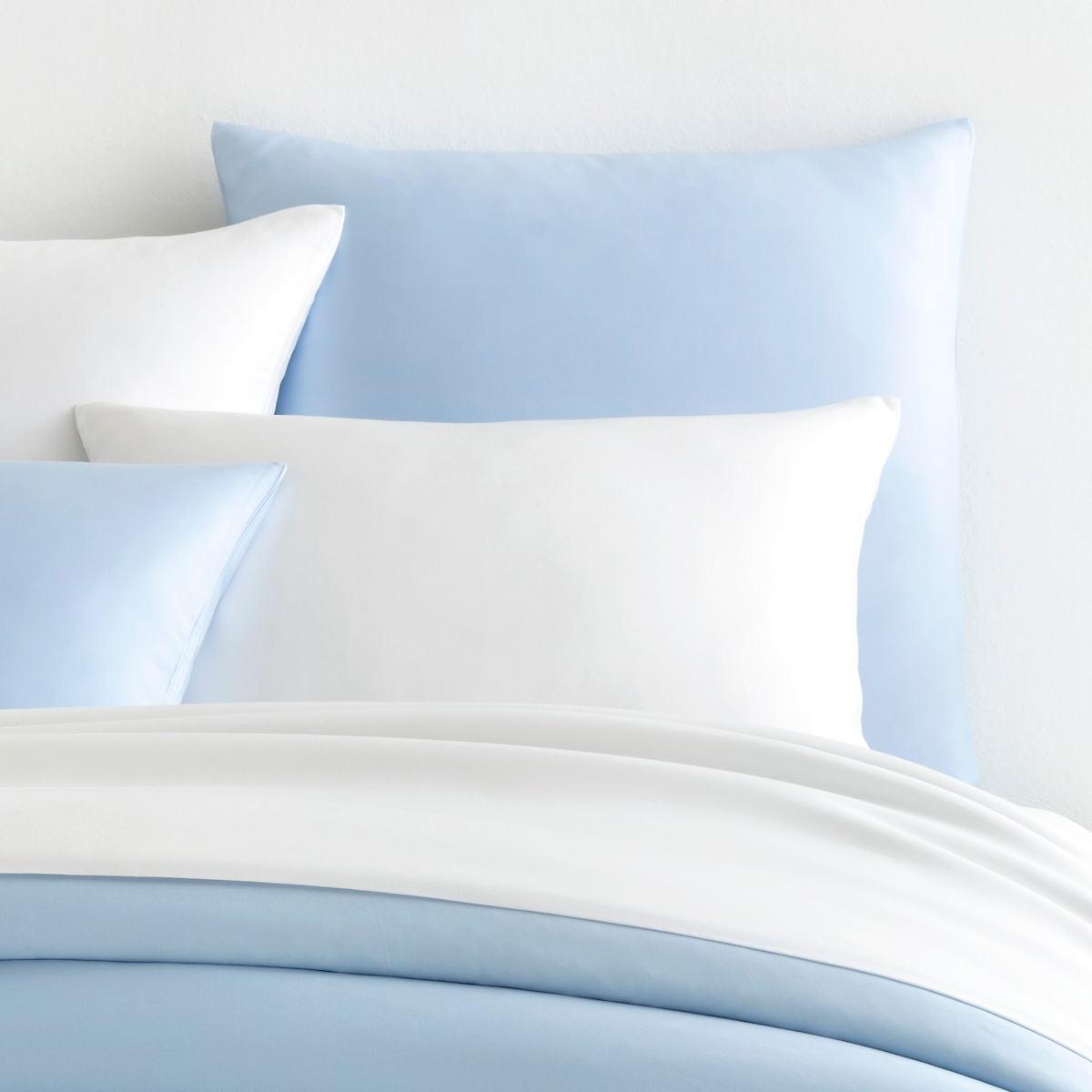Silken Solid Soft Blue Sham