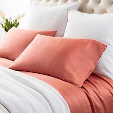 Silken Solid Spice Pillowcases