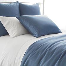Silken Solid Storm Blue Duvet Cover