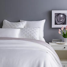 Silken Solid White Duvet Cover