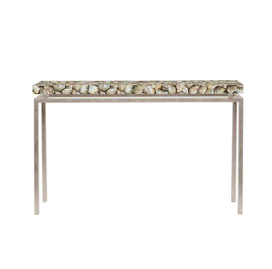 Silver Mother Of Pearl Benjamin Narrow Console