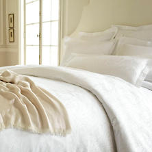 Simone White Duvet Cover