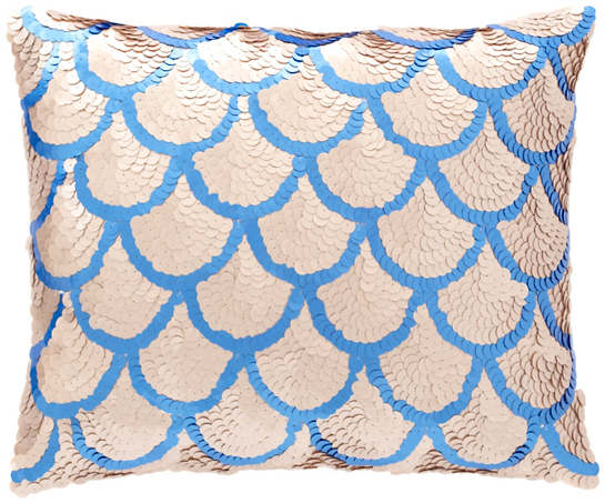 Snapper Blue Decorative Pillow