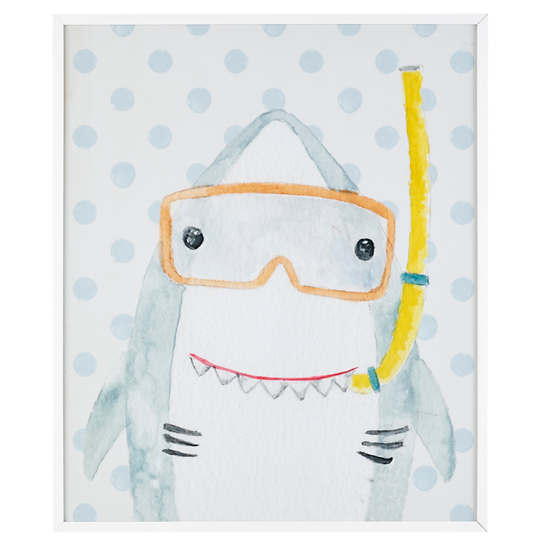 Snorkeling Shark  Wall Art