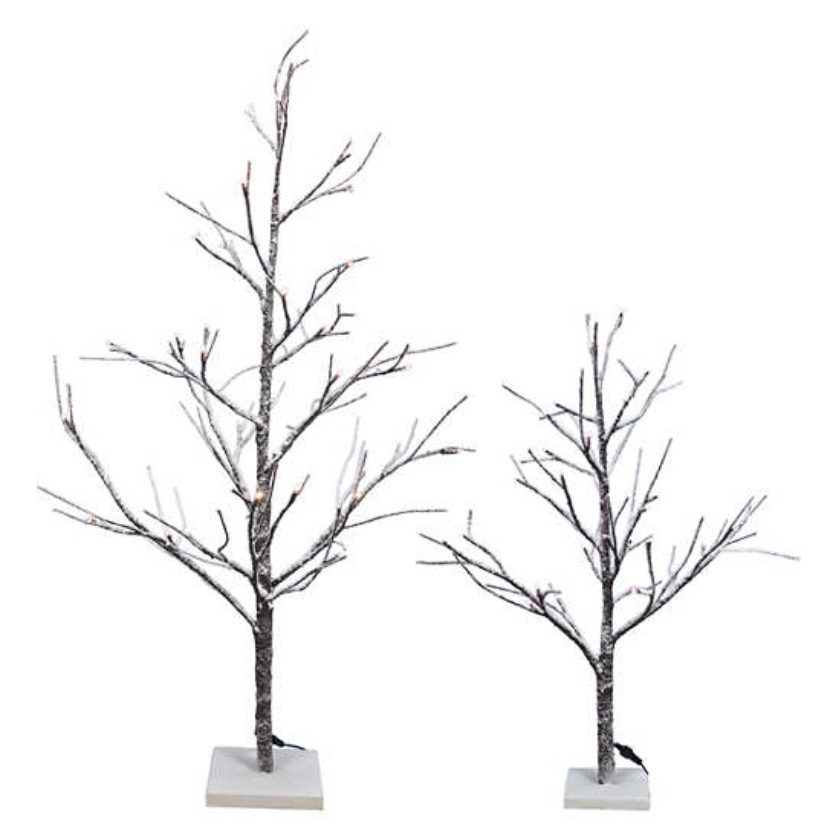 Lite Up Snowy Twig Tree