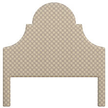 Sophie Embroidery Grey Montaigne Headboard
