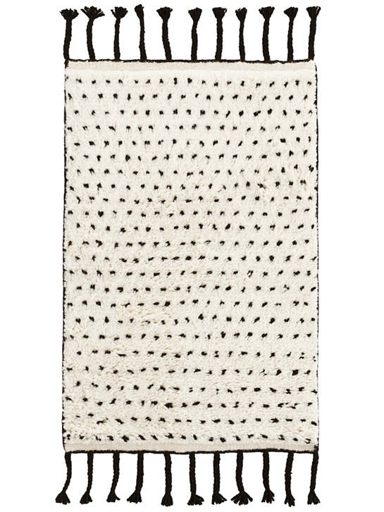Speck Black Hand Knotted Wool Rug